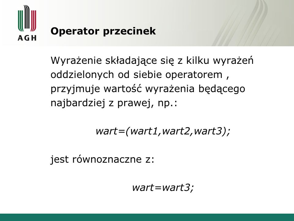 Operator przecinek