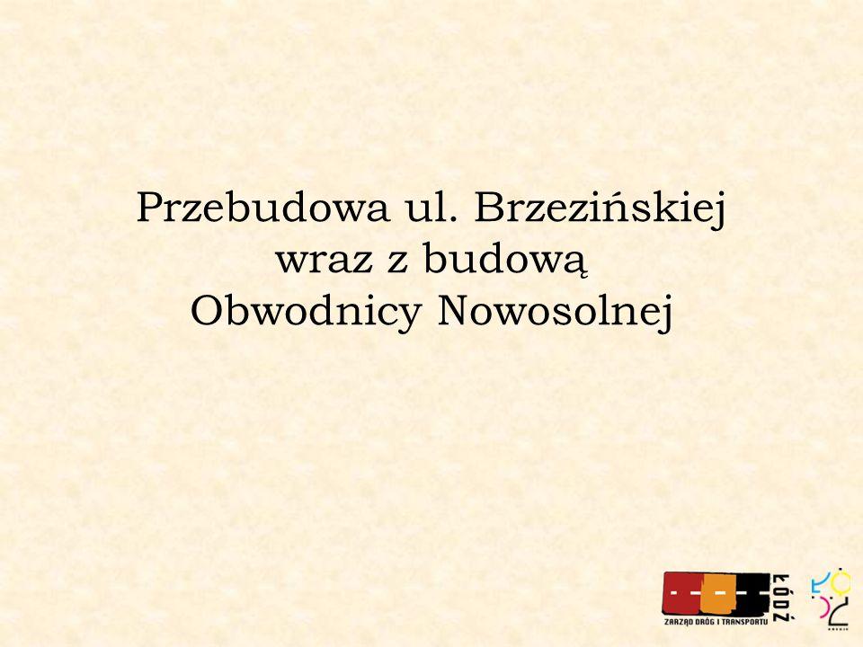 Przebudowa ul. Brzezińskiej wraz z budową Obwodnicy Nowosolnej