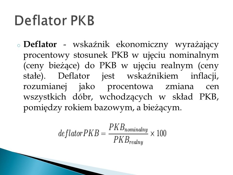 Deflator PKB