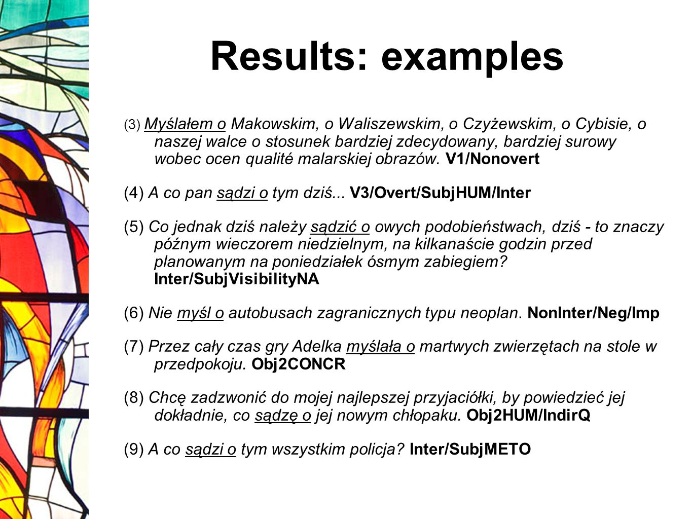 Results: examples