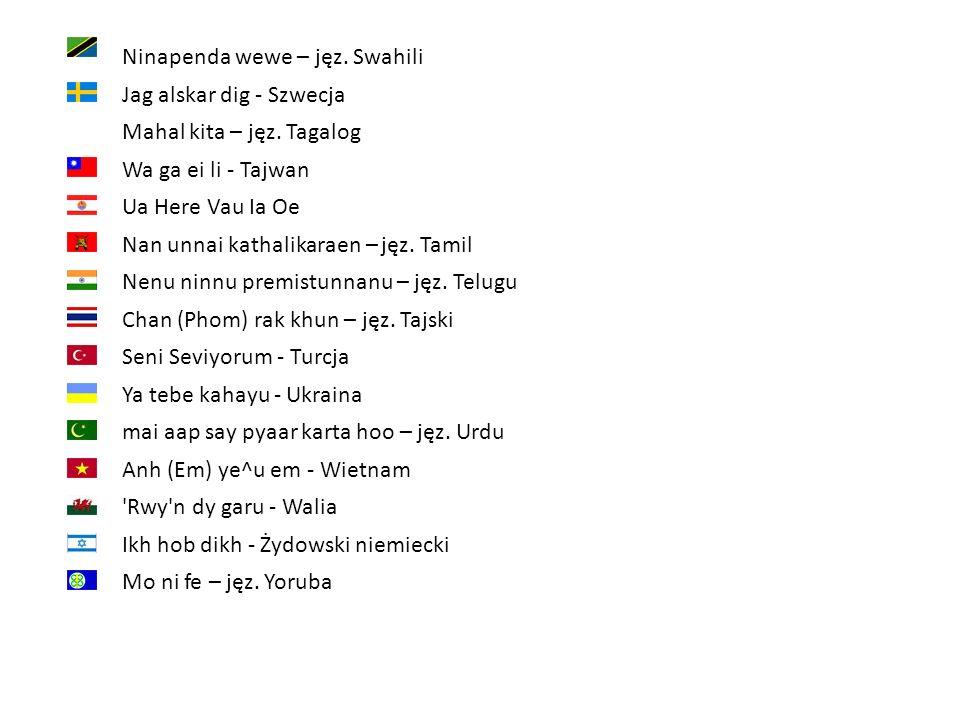 Ninapenda wewe – jęz. Swahili