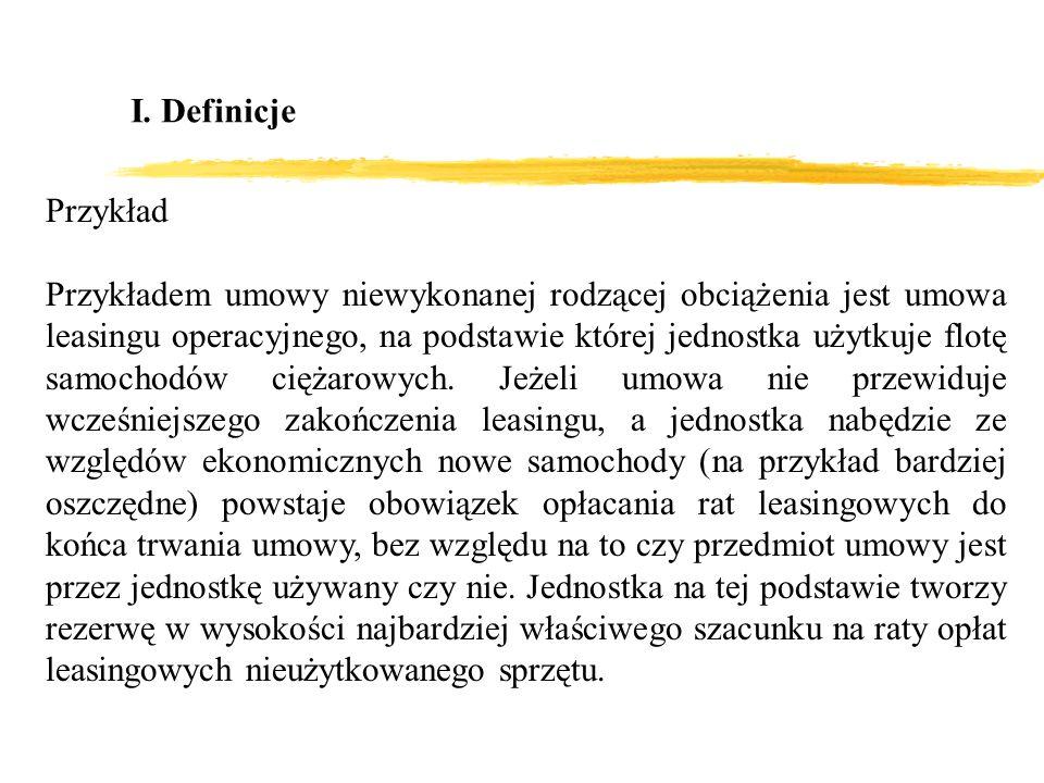 I. Definicje Przykład.