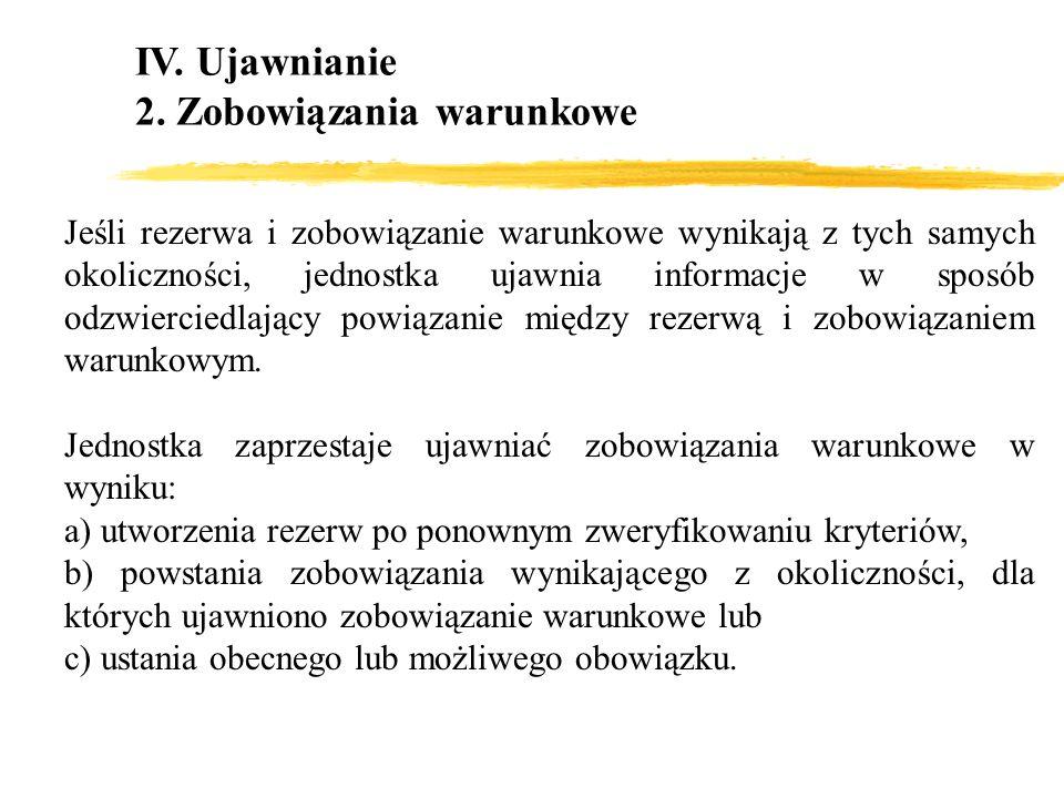 2. Zobowiązania warunkowe