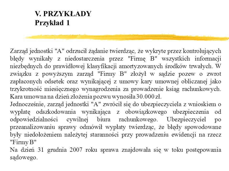 V. PRZYKŁADY Przykład 1.