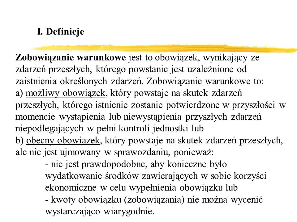 I. Definicje