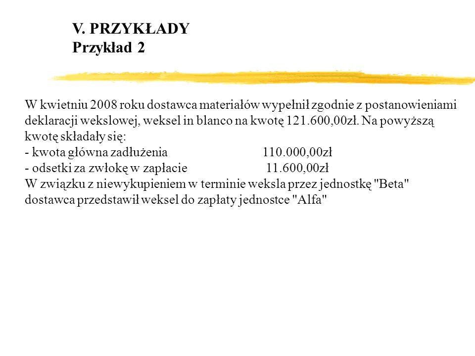 V. PRZYKŁADY Przykład 2.