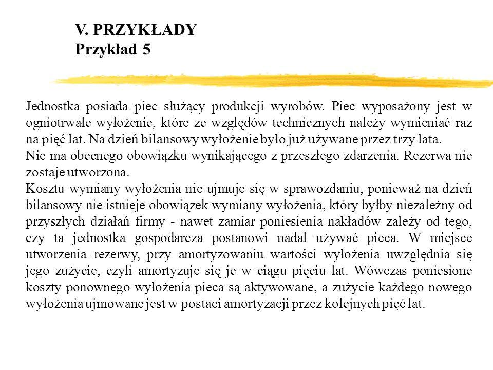 V. PRZYKŁADY Przykład 5.