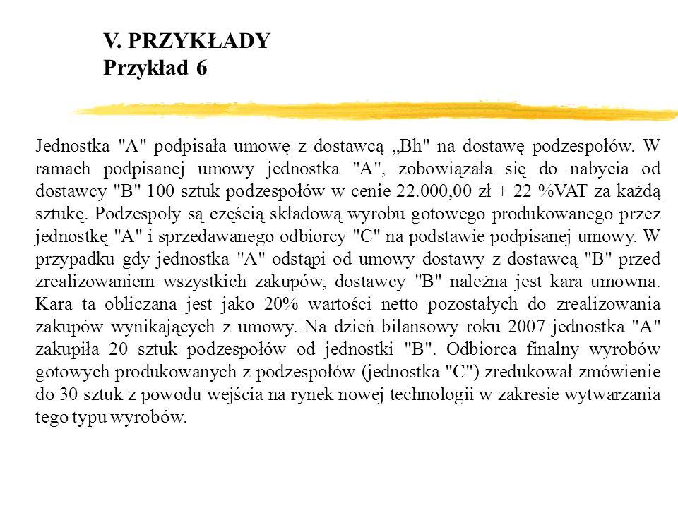 V. PRZYKŁADY Przykład 6.