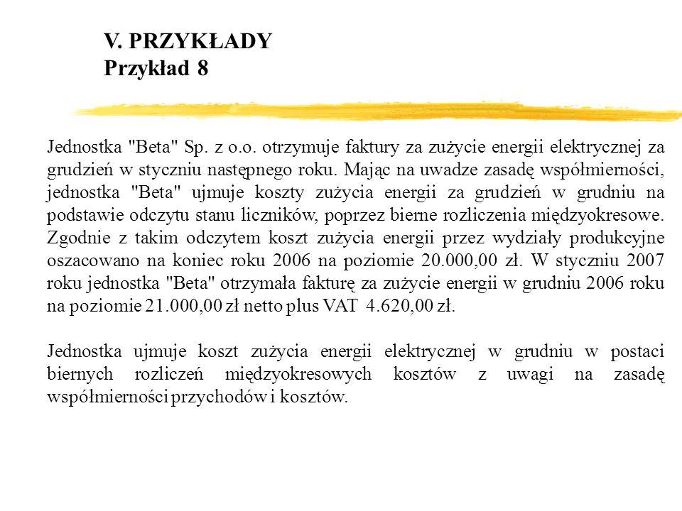V. PRZYKŁADY Przykład 8.