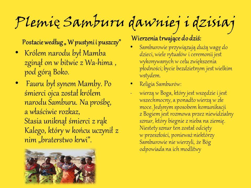Plemię Samburu dawniej i dzisiaj