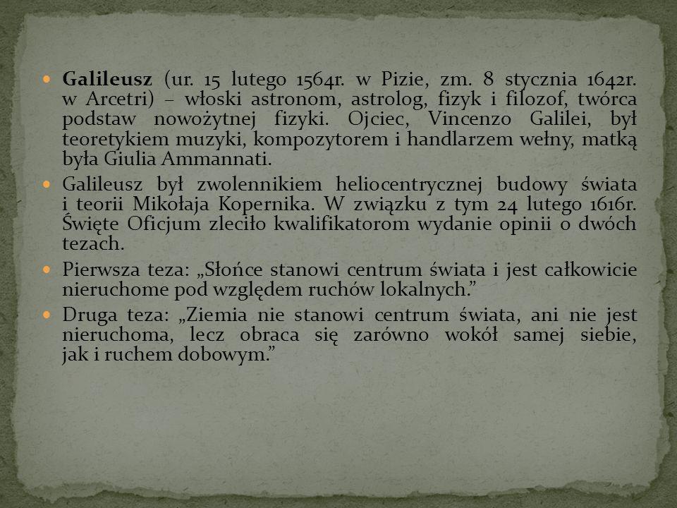 Galileusz (ur. 15 lutego 1564r. w Pizie, zm. 8 stycznia 1642r