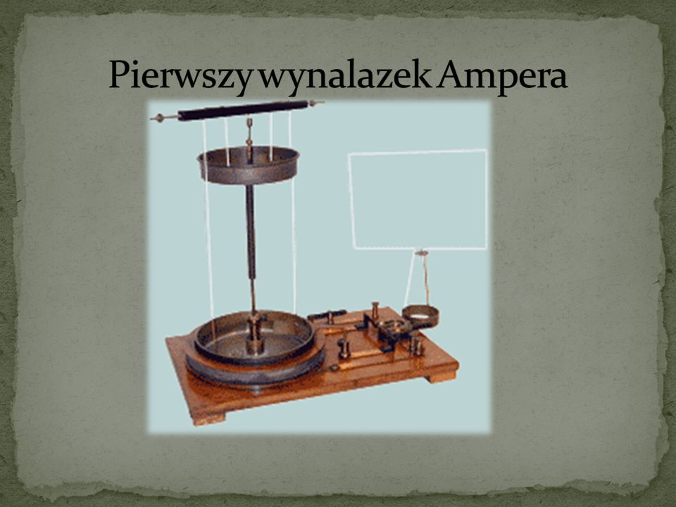 Pierwszy wynalazek Ampera