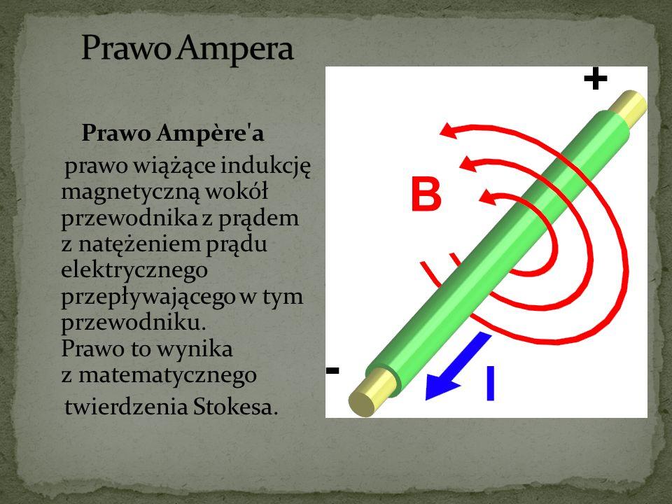 Prawo Ampera Prawo Ampère a