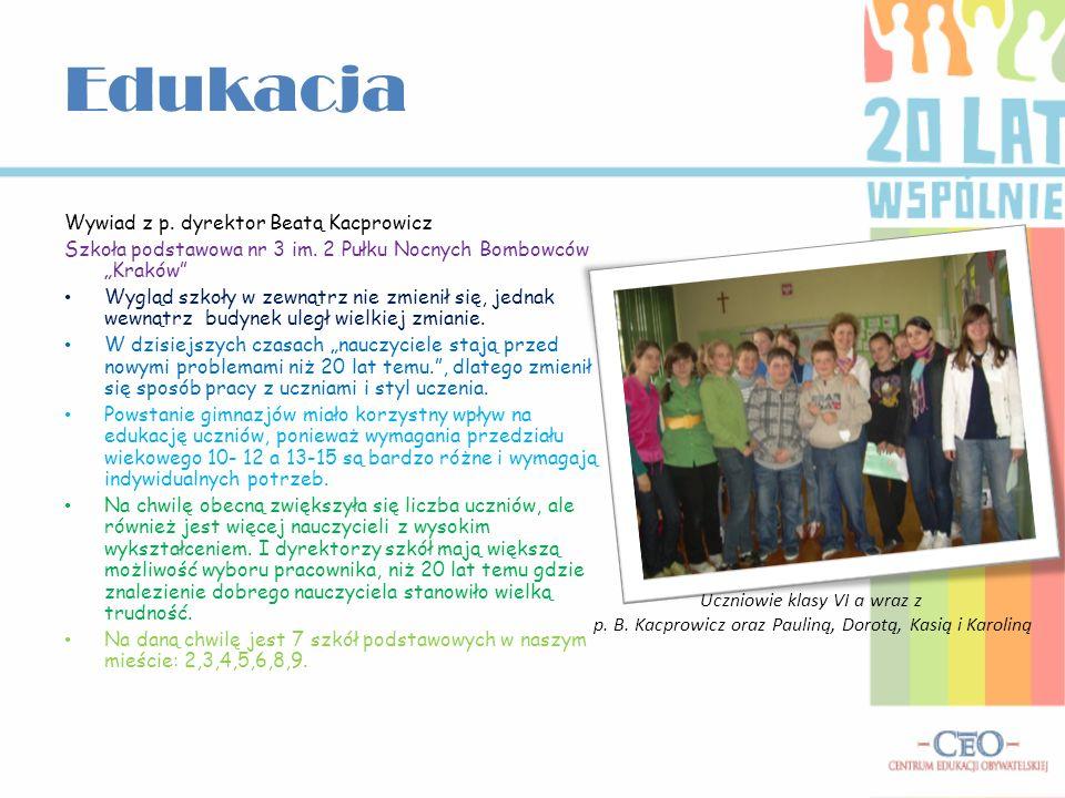 Edukacja Wywiad z p. dyrektor Beatą Kacprowicz