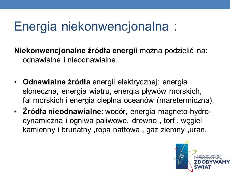 Energia niekonwencjonalna :