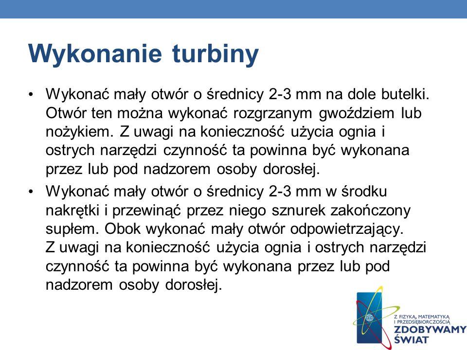 Wykonanie turbiny