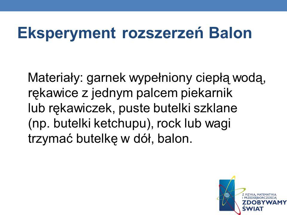 Eksperyment rozszerzeń Balon