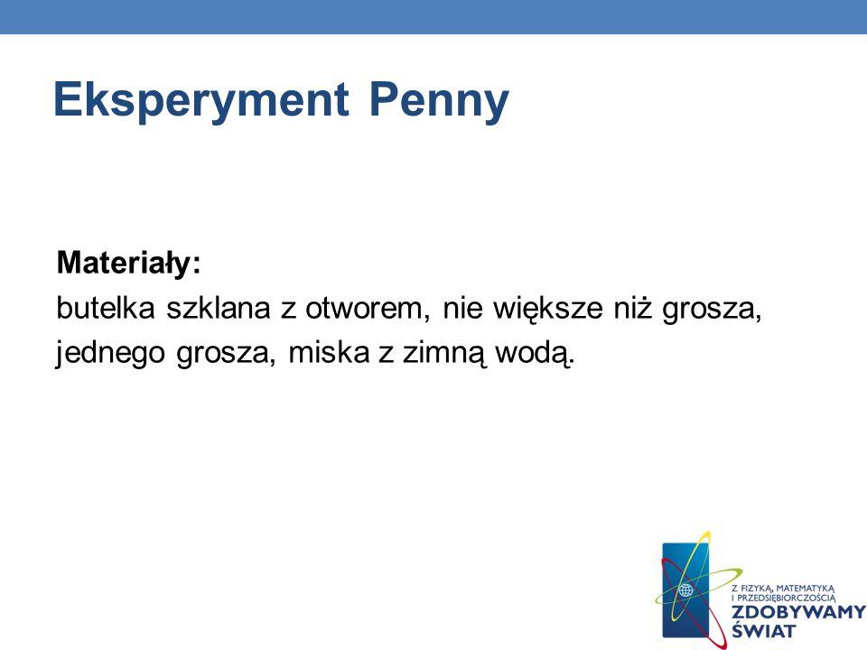 Eksperyment Penny Materiały: