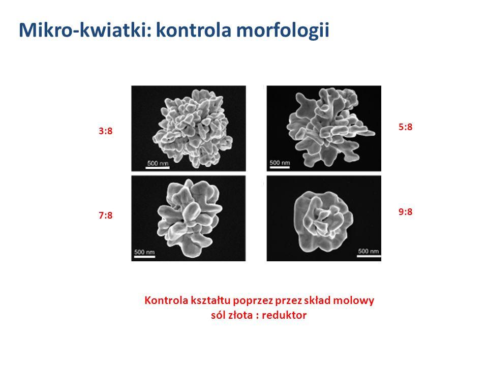 Kontrola kształtu poprzez przez skład molowy