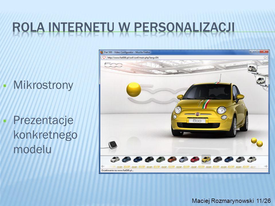 Rola Internetu w personalizacji