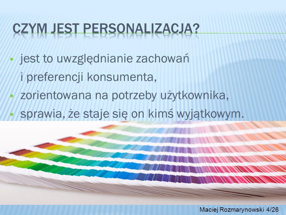 Czym jest personalizacja