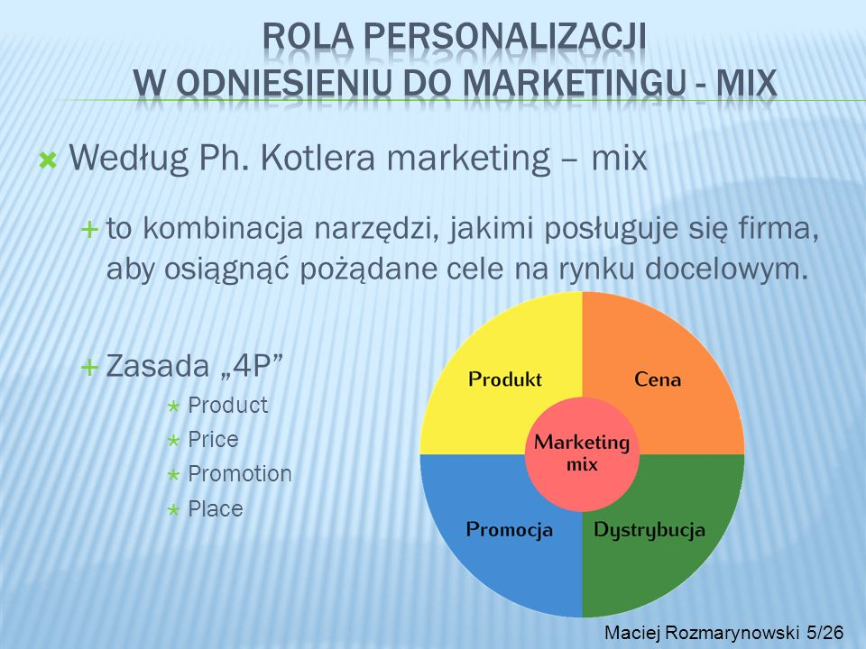 Rola personalizacji w odniesieniu do marketingu - MIX