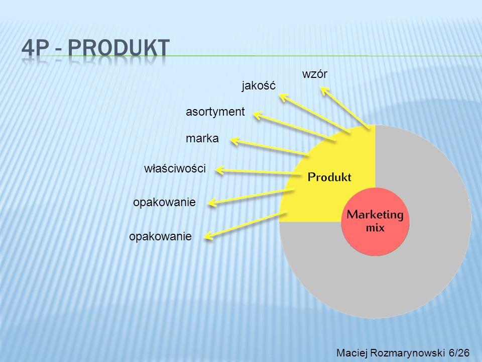 4P - produkt wzór jakość asortyment marka właściwości opakowanie