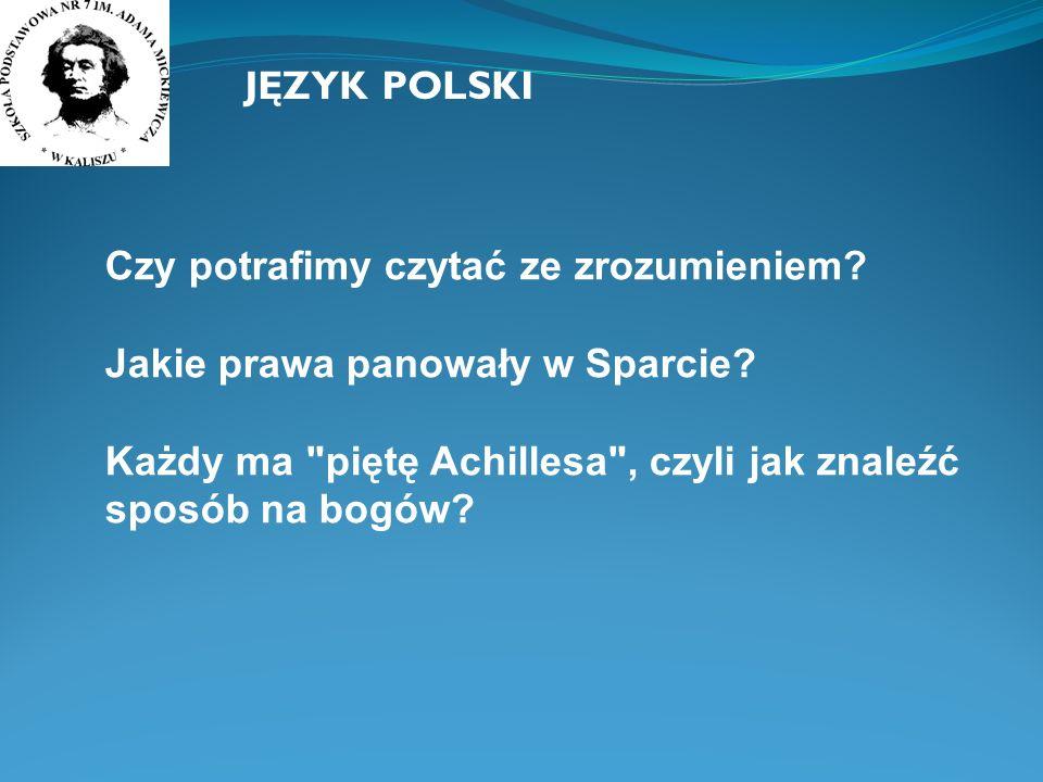 JĘZYK POLSKI Czy potrafimy czytać ze zrozumieniem.