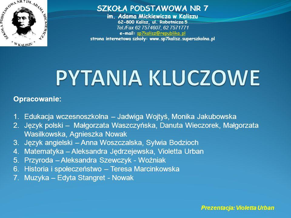 strona internetowa szkoły: www.sp7kalisz.superszkolna.pl