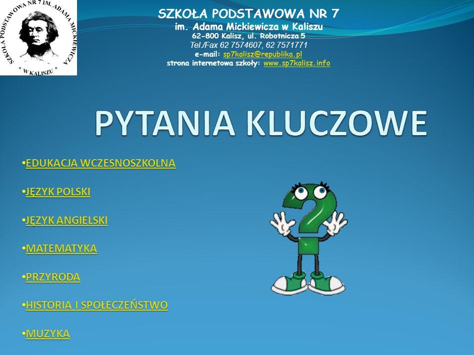 strona internetowa szkoły: www.sp7kalisz.info