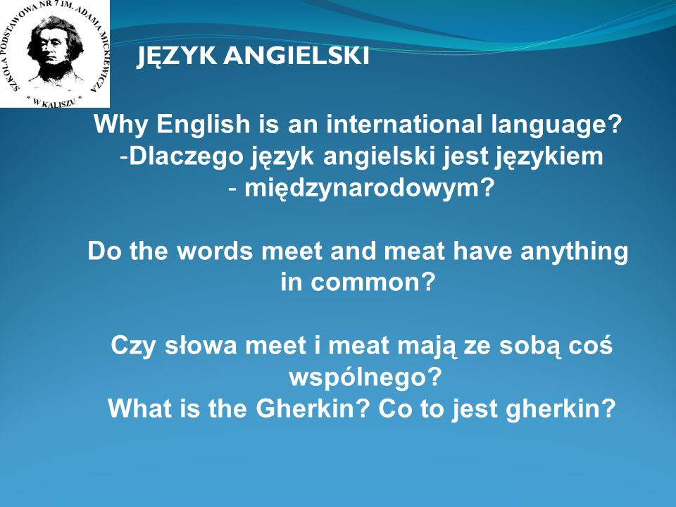Why English is an international language