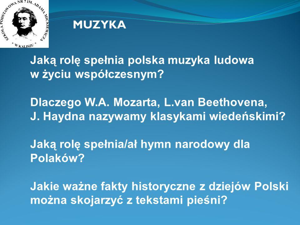 MUZYKA Jaką rolę spełnia polska muzyka ludowa w życiu współczesnym
