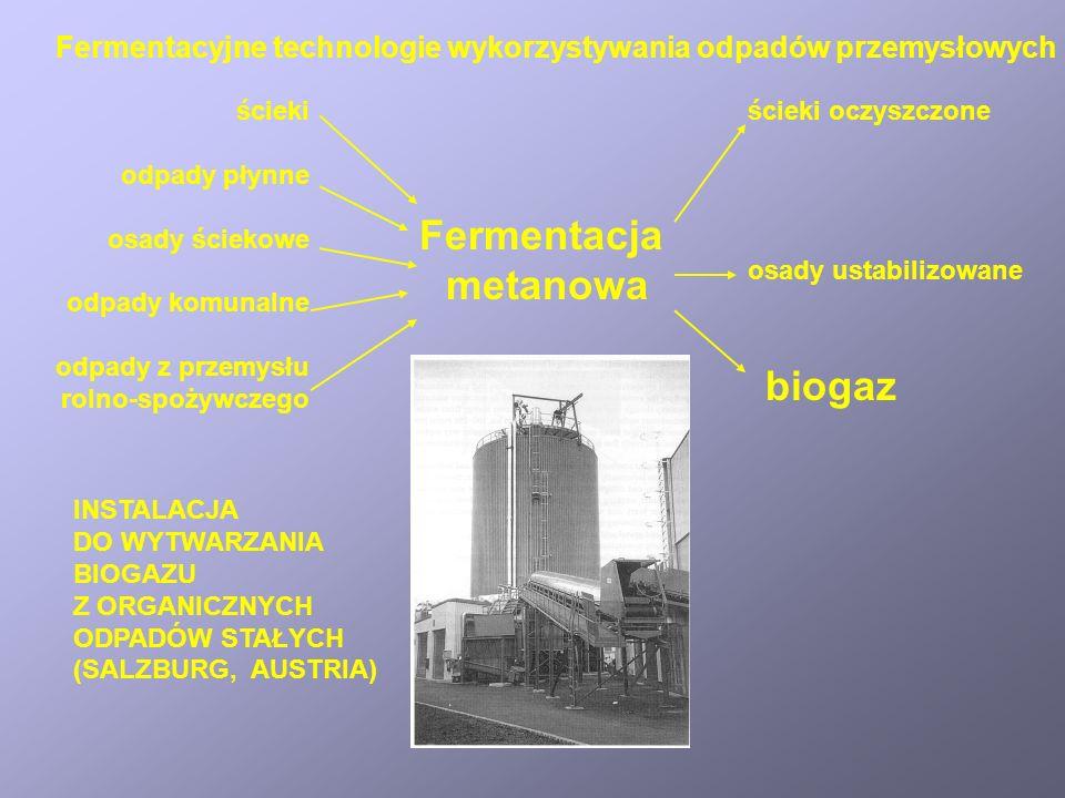 Fermentacja metanowa biogaz
