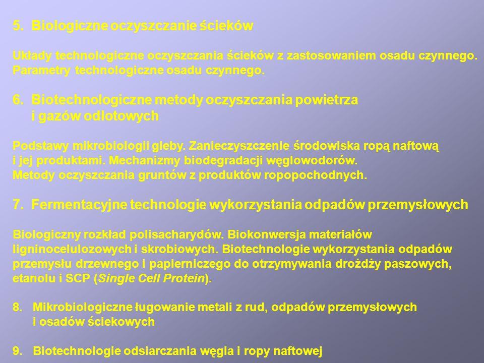 5. Biologiczne oczyszczanie ścieków