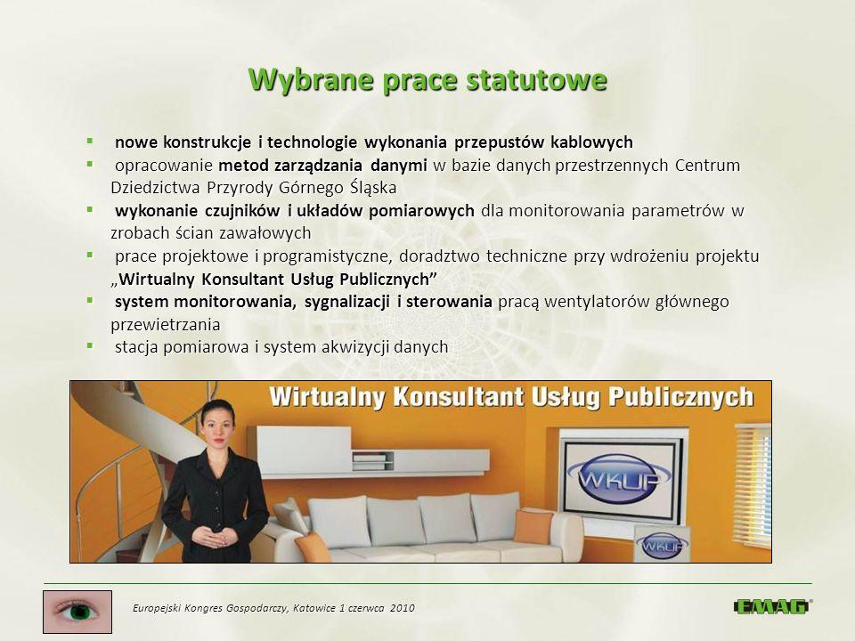 Wybrane prace statutowe