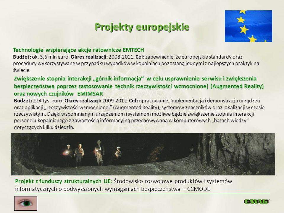 Projekty europejskie Technologie wspierające akcje ratownicze EMTECH