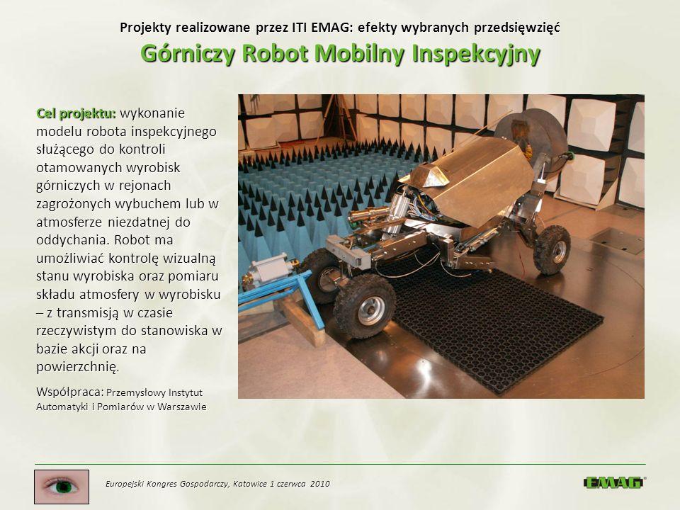 Projekty realizowane przez ITI EMAG: efekty wybranych przedsięwzięć Górniczy Robot Mobilny Inspekcyjny