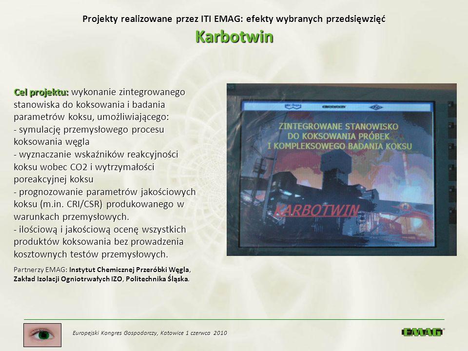 Projekty realizowane przez ITI EMAG: efekty wybranych przedsięwzięć Karbotwin
