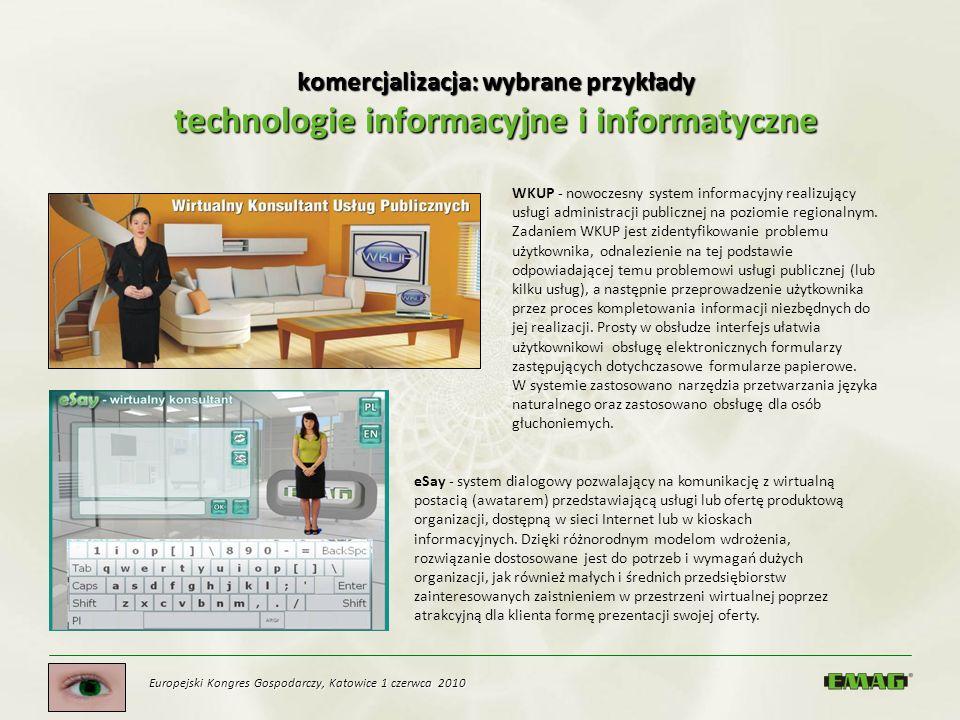 komercjalizacja: wybrane przykłady technologie informacyjne i informatyczne