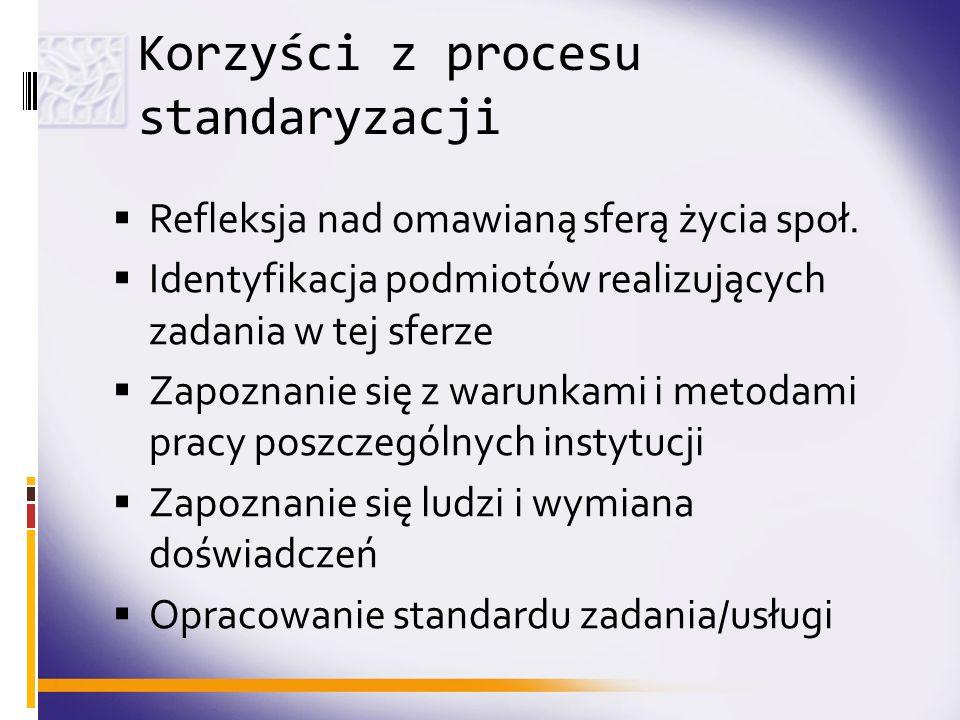 Korzyści z procesu standaryzacji