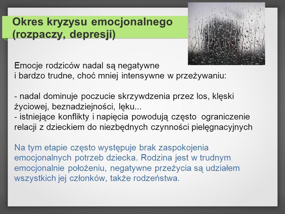 Okres kryzysu emocjonalnego (rozpaczy, depresji)