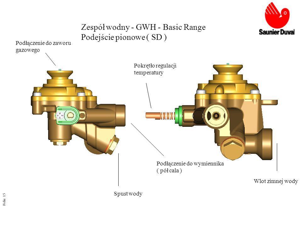 Zespół wodny - GWH - Basic Range Podejście pionowe ( SD )