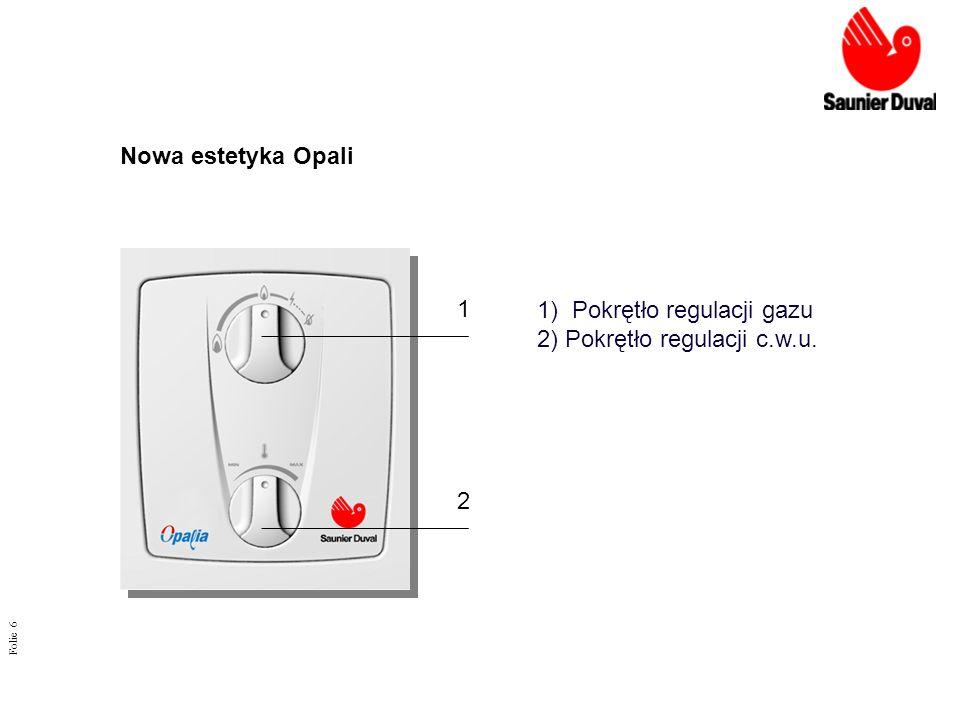 1) Pokrętło regulacji gazu 2) Pokrętło regulacji c.w.u. 1