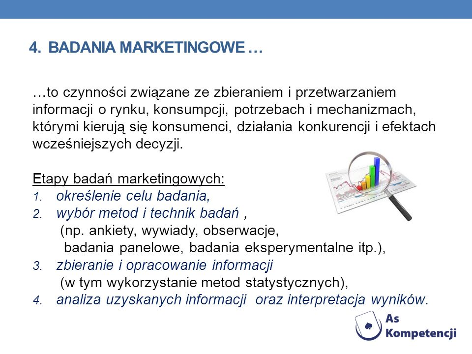 4. BADANIA MARKETINGOWE …