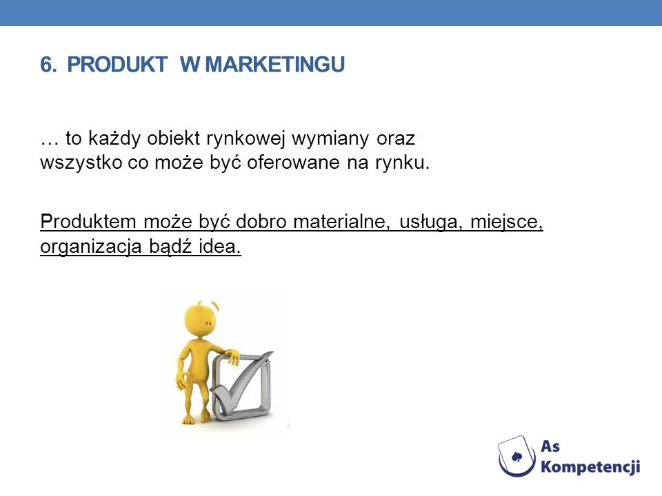 6. PRODUKT w marketingu