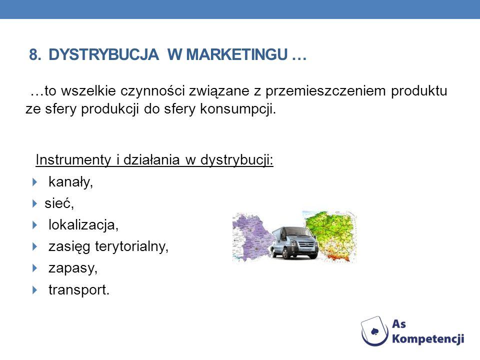 8. dystrybucja w marketingu …