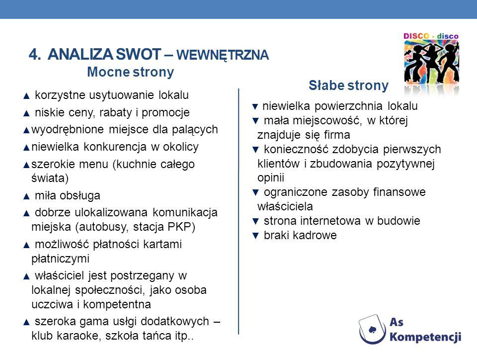 4. Analiza SWOT – wewnętrzna