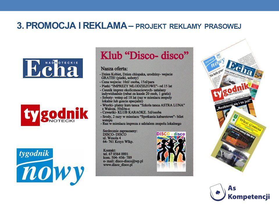 3. Promocja i reklama – projekt reklamy prasowej