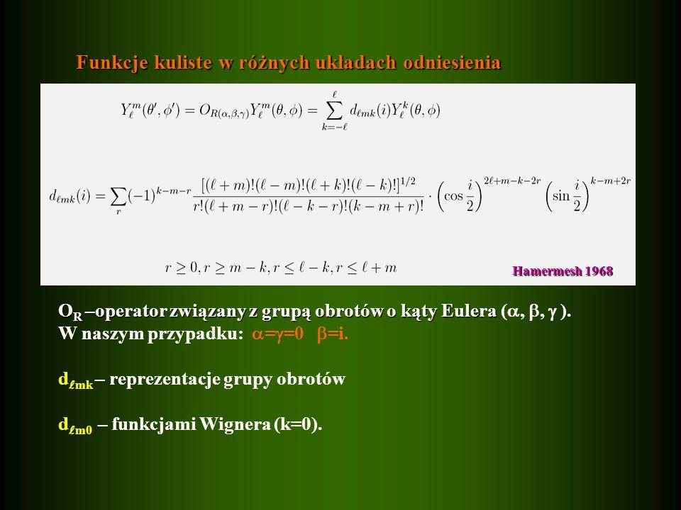 Funkcje kuliste w różnych układach odniesienia