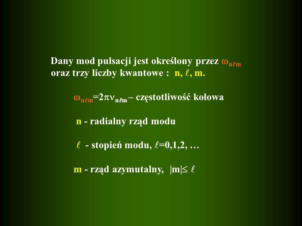 oraz trzy liczby kwantowe : n, , m.